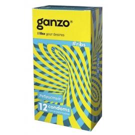 Презервативы Ganzo ребристые 12шт.