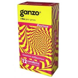 Презервативы Ganzo Точечно-ребристые 12шт.