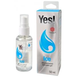 Анальная гель-смазка силиконовая YES Ice 50 мл.