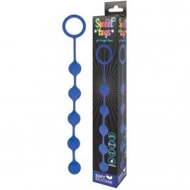 Цепочка анальная на силиконовой сцепке от компании Sweet Toys, цвет синий