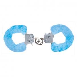Наручники с мехом «Furry Fun Cuffs Blue», цвет голубой