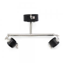 Металлическая палочка с креплениями для рук и шеи короткая