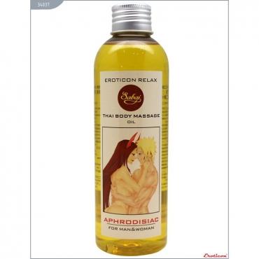 Массажное масло «Relax» с ароматом лаванды и иланг-иланга от компании Eroticon, объем 200 мл