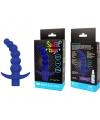 Вибрирующая анальная елочка с ограничителем от компании Sweet Toys, цвет синий
