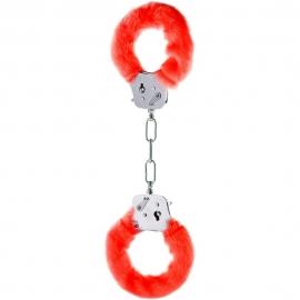 Наручники «Furry Fun Cuffs Red», цвет красный, Toy Joy