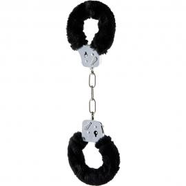 Наручники «Furry Fun Cuffs Black» с мехом от ToyJoy, цвет черный