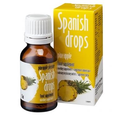 Универсальные Капли Spanish Drops Pineapple Pleasure для двоих со вкусом ананаса 15 мл