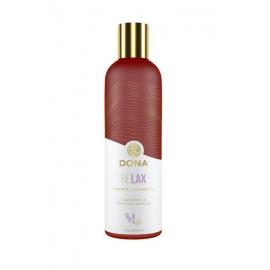 Массажное масло DONA с ароматом тиянской ванили и лаванды