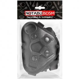 Трусики для страпона с кольцами, цвет черный, Notabu