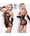 Эротическое платье и митенки с атласной шнуровкой, DJ1445-2