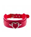 Красный ошейник с сердцем