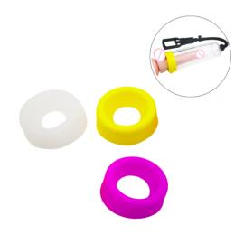 Мягкая универсальная насадка на помпу желтая, размер 6,3 см. - 3 см.